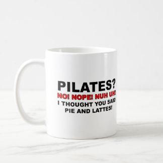 Pilates Pie And Lattes Funny Mug