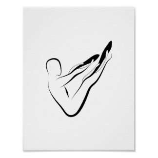 Pilates pose poster