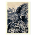 Pilatus steepest mountain rack railway postcard