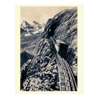 Pilatus steepest mountain rack railway post card