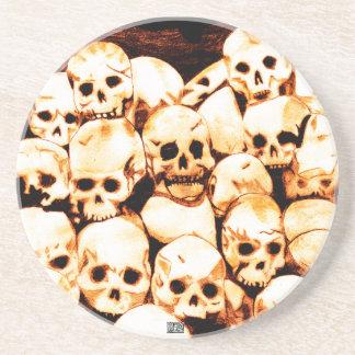 Pile-O-Skulls (Aged) Coaster