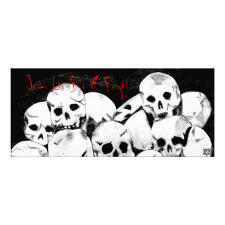 Pile-O-Skulls Halloween Invites