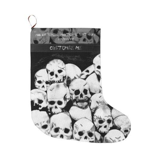 Pile-O-Skulls Large Christmas Stocking