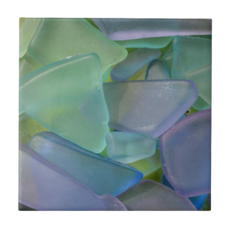 Pile of blue beach glass, Alaska Tile