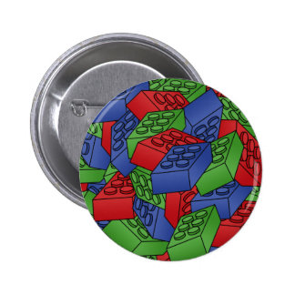Pile of Building Blocks 6 Cm Round Badge