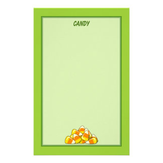 Pile of Candy Corn Halloween Template Stationery