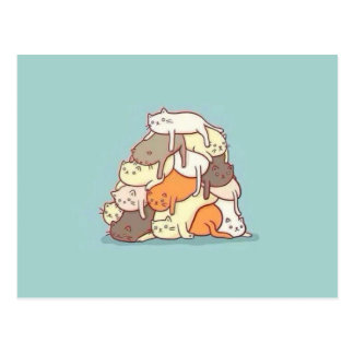 Pile of Cats Postcard
