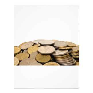 Pile of coins 21.5 cm x 28 cm flyer