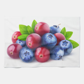 Pile of fresh berries tea towel