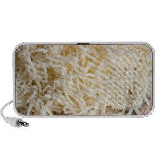 Pile of fresh mozzarella cheese. mini speakers