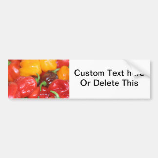 pile of habanero hot peppers bumper sticker