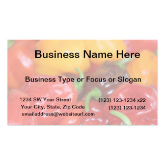 pile of habanero hot peppers pack of standard business cards