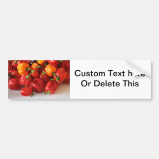 pile of habanero hot peppers top bumper sticker