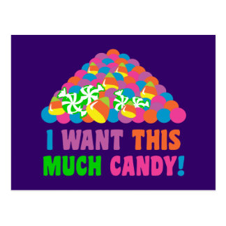 Pile of Halloween Candy Postcard
