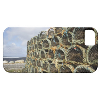 pile of lobster crab pots on Irish shoreline iPhone 5 Cover