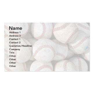 pile of many baseballs business cards