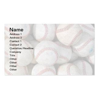 pile of many baseballs pack of standard business cards
