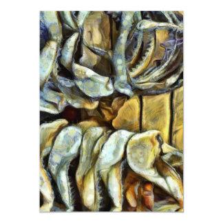 Pile of marine jaws 13 cm x 18 cm invitation card