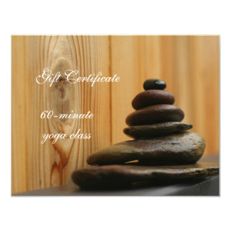 Pile of Meditation Stones Gift Certificate 11 Cm X 14 Cm Invitation Card