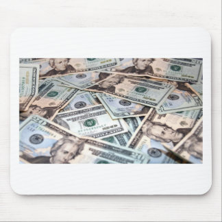 Pile of money mousepads
