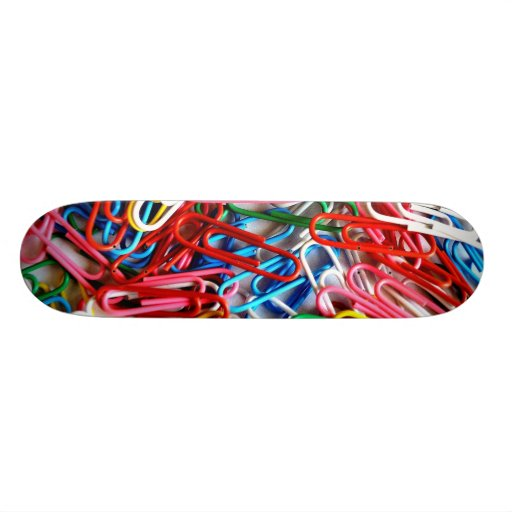 Pile of Paperclips Skate Board