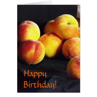 Pile of Peaches Birthday Card