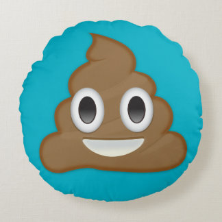 Pile Of Poo Emoji Round Cushion