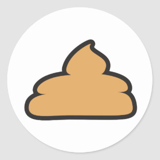 💩 - pile of poo round sticker