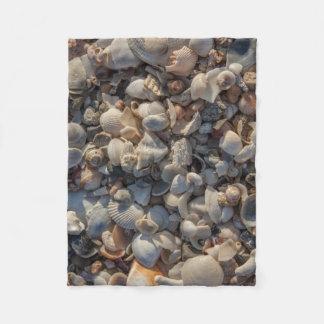 Pile Of Seashells Fleece Blanket