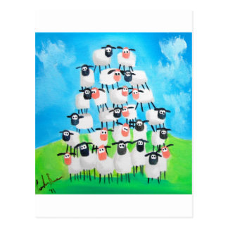 Pile of sheep postcard