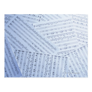 Pile of Sheet Music Postcard