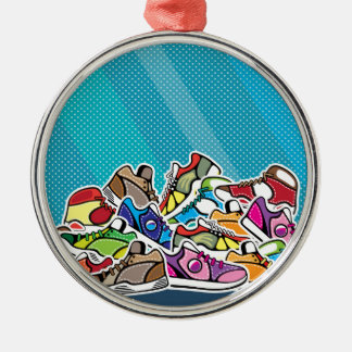 Pile of shoes vector pop art christmas ornament