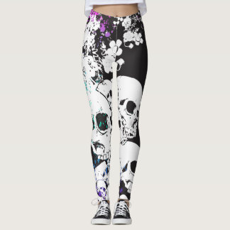 Pile of Skulls Suicide Squad Fade Leggings