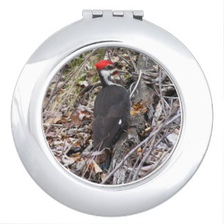 Pileated Woodpecker bird Mirrors For Makeup
