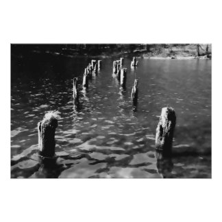 Piles in the water - Poster