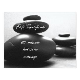 Piles of Meditations Stones Gift Certificate 11 Cm X 14 Cm Invitation Card