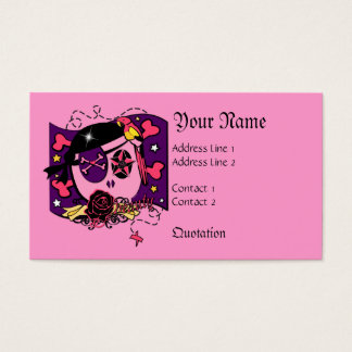 Pilfering in Pink Business Card