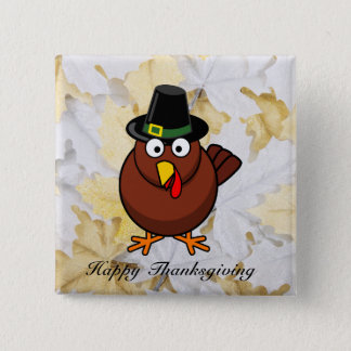Pilgram Turkey Thanksgiving Button