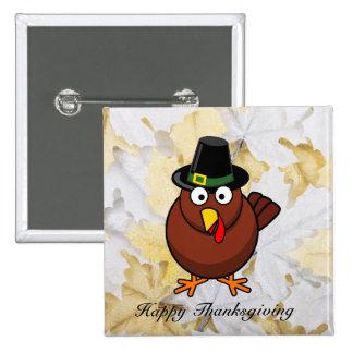 Pilgram Turkey Thanksgiving Button