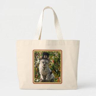 Pilgrim Cat Tote Bags