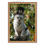 Pilgrim Cat Card