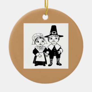 Pilgrim Couple Ornament