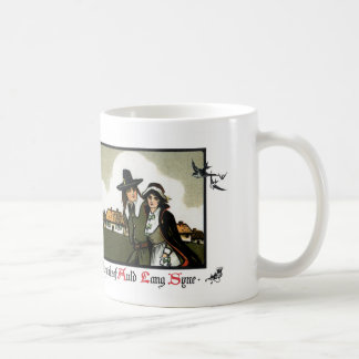 Pilgrim Couple Vintage New Year's Day Coffee Mugs