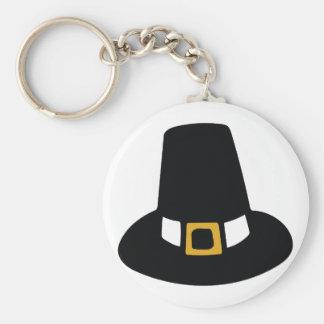 Pilgrim Hat Basic Round Button Key Ring