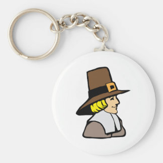 Pilgrim Basic Round Button Keychain