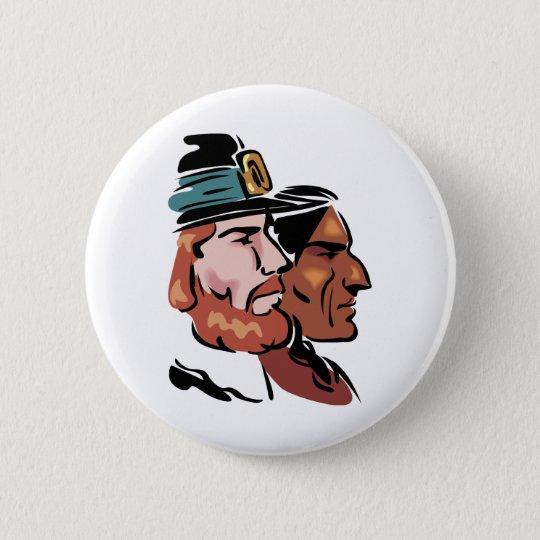pilgrim & native 6 cm round badge