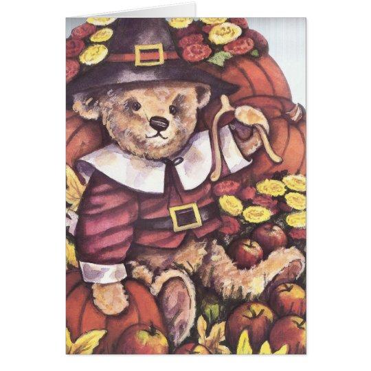 Pilgrim Teddy Bear Card