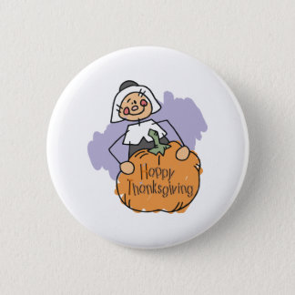 Pilgrim Thanksgiving Decoration 6 Cm Round Badge