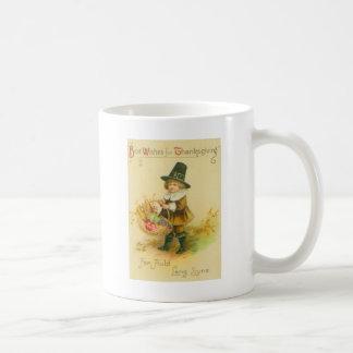 Pilgrim With Basket Basic White Mug