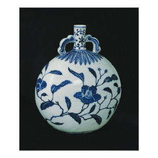 Pilgrim's 'Blue and White' Gourd with Floral Poster